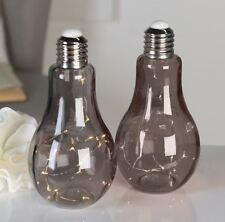 31963 Lampe décorative AMPOULE en verre gris GUIRLANDE LUMINEUSE AVEC 19 LED `s
