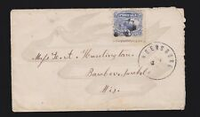US 114 1869 3c Locomotive on Dove & Ribbon Printed Cover