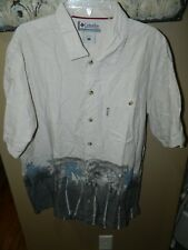 Columbia Hawaiian Style Button Front Mens Shirt Size Large