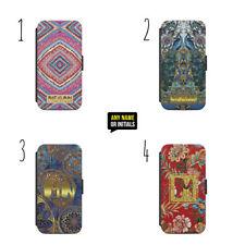 Personalised Name Initials Boho Gypsy Bohemian e36 Flip Wallet phone Case