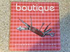 "Boutique  ""Strawberries & cream""  7"" vinyl single (with original fanzine card)"