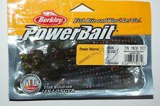 "berkley powerbait 7"" power worms for bass 13 pr pack watermelon purple red fleck"