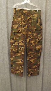 NEW Vtg Ideal ERDL Camouflage Cargo Hunting Pants sz 33 USA made Camo w/lining