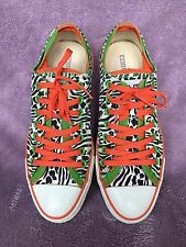 CONVERSE ALL STAR BAZINGA MENS ANIMAL PRINT & GREEN SHOES SIZE 9 WOMENS 11