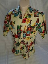 Mens size S button up short sleeved shirt BEER HIBISCUS WAIKIKI BNWT - Jethro