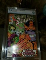 SILVER SURFER # 44 CBCS 9.6  1990  vs THANOS * LIKE CGC * 1st INFNITY GAUNTLET?