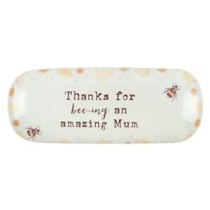 Thankyou for Beeing an Amazing Mum Bee Hard Shell Glasses Case Holder + Cloth