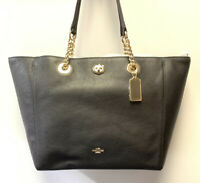 Coach NWOT Pebbled Turnlock Chain Tote 56830 - Dust-bag Included / Free Shipping
