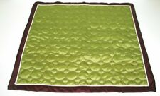 (1) Quilted Euro Sham w/ Cording & Flange ~ Green Brown ~ 26 x 26 **NEW**