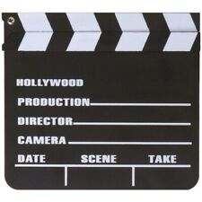 FILM REGIEKLAPPE 18x20cm Filmklappe Kreide Tafel Movie Hollywood Clapperboard