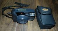 Pentax Zoom 105-R DATE 38-105mm 35mm Film Auto Focus Compact Zoom Camera & Case