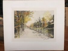 """Joesph Mallord William TURNER Colored Etching SIGNED In Pencil Joesph 8.5""""x10"""""""