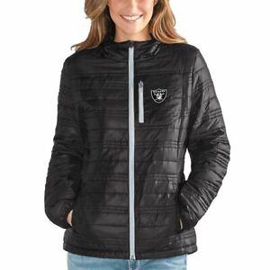 G-III For Her Oakland Raiders Women's Formation Packable Full Zip Jacket - Black