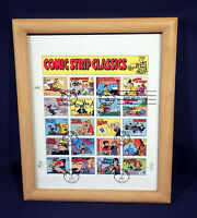 Last Day of Sale US Postage Stamp Sheet Comic Strip Classics 32 cents 1995 Frame