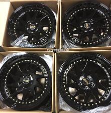 "18"" ESR SR09 18x8.5 5X100 +30 Black Wheels For Passat Golf Jetta Rims Set Of 4"