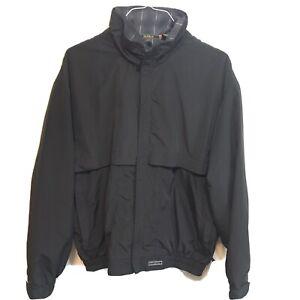 Sunice Full Zip Mesh Lined Rain Windbreaker Jacket Plaid Double Collar M Medium