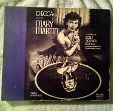 MARY MARTIN ON DECCA RECORDS #123 - 78 RPM BOXED RECORD SET (3) - COLE PORTER SO