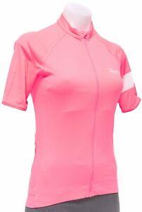 Rapha Core Short Sleeve Cycling Jersey Women MEDIUM Hi-Vis Pink Road Bike Gravel