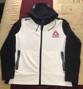 UFC Reebok Full Zip Hoodie Jacket Women's Size XL
