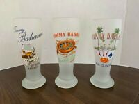 "Set of 3 Tommy Bahama 9"" Frosted Glasses Beer Glasses Pilsner Glasses Rare"