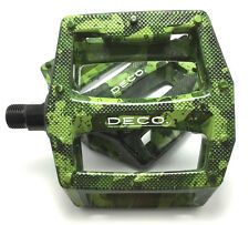 DECO BMX BIKE BICYCLE PLASTIC PEDALS 9/16 CHROMOLY SPINDLES JUNGLE CAMO NEW