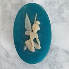 Vintage Disney TINKERBELL Blue Soapstone Trinket Jewelry Box