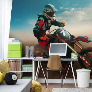 VLIES FOTOTAPETE Selbstklebende TAPETEN XXL Jugend Motorrad Cross Sport 3011
