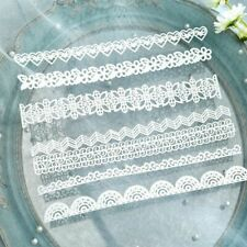 Paper 14 White Lace Stencils Scrapbooking Cutting Dies Cuts Embossing DIY Craft