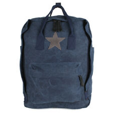 6490442b77ad6 Stern Rucksack Shopper Tasche Canvas Jeans Stoff Vintage Schulter Schul  Backpack