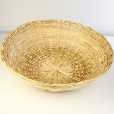 Cane Wicker Storage Fruit Display Baskets Bowl 60cm