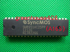 50PC ORIGINAL SM8951AC25PP Manu:SYNCMOS Encapsulation:DIP-40