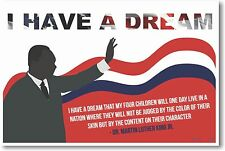 MLK - Martin Luther King Jr - I Have A Dream - NEW Civil Rights Leader POSTER