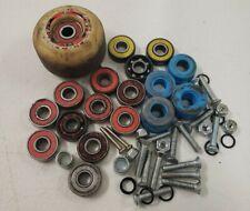 Lot Of Random Skateboard Parts Bearings Screws Nuts A Wheel Etc