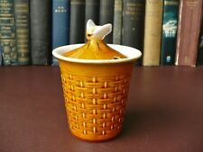 Vintage Secla Pottery  Honey Pot -  Honey Pot With Bee Finial