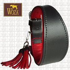 WOZA Premium Greyhound Collar Handmade Full Leather Padded Genuine Cow Napa HM01