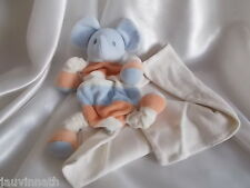 Doudou éléphant et son mouchoir Sucre d'Orge