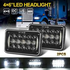 Pair 4x6 inch LED Headlights Rectangular Hi-Lo Sealed Beam For Chevrolet Camaro