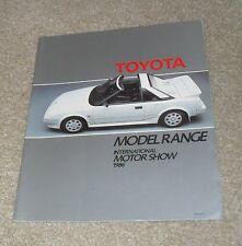 FOLLETO De Toyota Celica Supra Corolla Coupe 1986 MR2 GT Land Cruiser Camry Carina