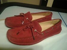 BASS TUSCANY SUEDE LEATHER LOAFERS SHOES. SIZE 8.5 M