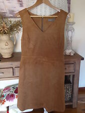 OASIS WOMENS SUEDETTE V NECK DRESS SIZE 12 BRAND NEW