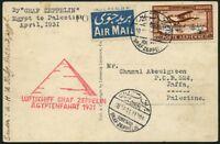 Zeppelin Ägypten 1931 Ägyptenfahrt Palästina-Rundfahrt Port Said Si 105 Ec / 508