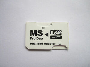 10 pcs Dual Slot for Sony PSP MicroSDHC to Memory Stick MS Pro Duo Card Adapter