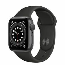 NEW! Apple Watch Series 6 44MM (GPS) Space Gray Aluminum Case w/Black Sport Band