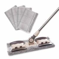 Microfiber Hardwood Floor Mop - 5 Washable & Reusable Flat Mops Cloths/Pads