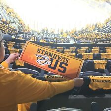 Nashville Predators Stand With Us NHL Playoffs Game 2 Exclusive Banner NEW