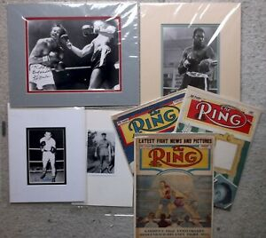 Boxing Champion Autographs & Memorabilia Lot Homes Gavalin Fullmer Ring Mags etc