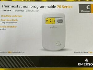 White-Rodgers 1E78-140 Non-Programmable Thermostat 24 Volt or Millivolt System