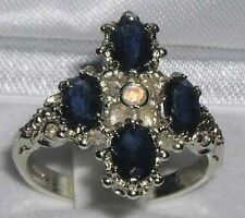 Cluster Sapphire Sterling Silver Fine Rings