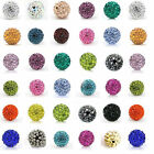 20PCS Czech Crystal Rhinestones Pave Clay Round Disco Ball Spacer Beads 6/8/10mm