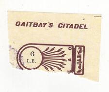 VINTAGE TICKET STUB Qaitbay's Citadel ALEXANDRIA Egypt EGYPTIAN Qaitbay SULTAN